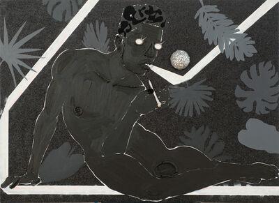 Devan Shimoyama, 'Adjusting to the Luminous Black', 2015