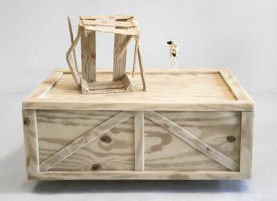 Jeanne Silverthorne, 'Two Crates with Hanging Skeletons', 2019