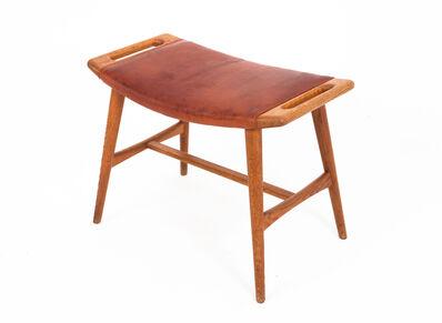 Hans Jørgensen Wegner, 'Hans J. Wegner Piano Stool Oak and Leather', ca. 1957