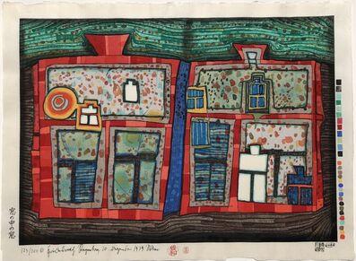 Friedensreich Hundertwasser, '2 to 13 Windows Afloat', 1979