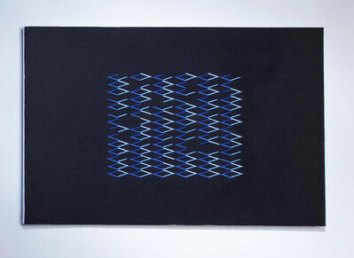 Isaac Chong Wai, '279 lines in blue', 2019
