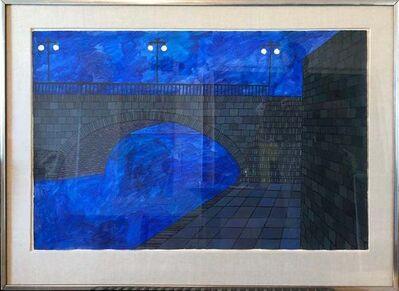 Judith Shahn, 'Modernist Vibrant Blue Bridge', 20th Century