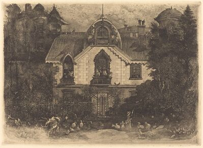 Rodolphe Bresdin, 'The Haunted House', 1871