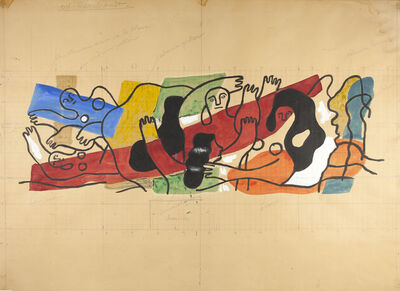 Fernand Léger, 'Study for the mural painting for the home of Mr. and Mrs. Wallace Harrison', ca. 1942