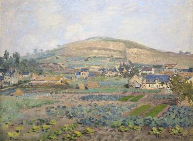 Claude Monet, 'Le Mont Riboudet a Rouen au Printemps', 1872