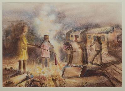 Durant Sihlali, 'Burning Refuse', 1964