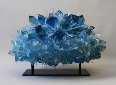 Carson Fox, 'Blue Crystal Explosion'