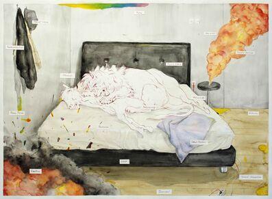 Agus Suwage, 'Fragmen Tempat Tidur - After Raden Saleh', 2016