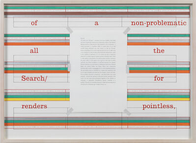 Art & Language, 'Letters to The Red Crayola VIII', 1973-2012