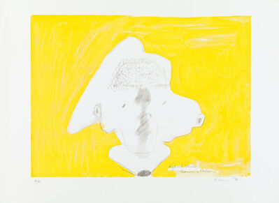 Maria Lassnig, 'Kopf mit Ohren / Gomera = Mexico', 1999