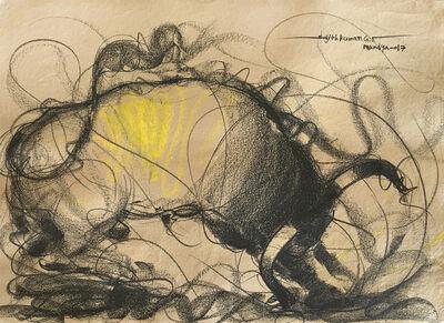 Sujth Kumar G.S. Mandya, 'Bull Drawing - 656', 2017