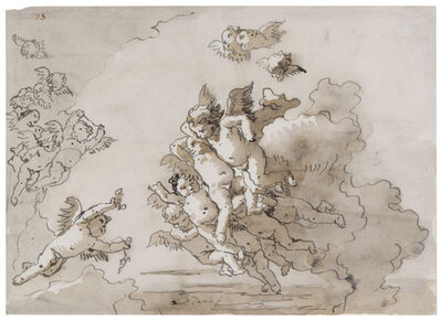Giovanni Domenico Tiepolo, 'Putti in the Clouds', 18th Century