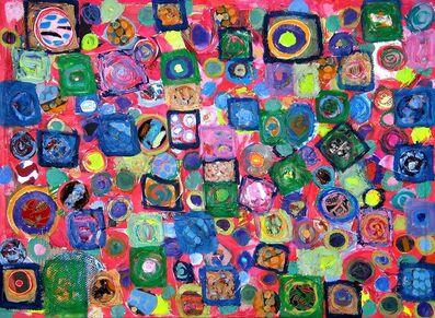 Pacita Abad, 'Green squares', 2003