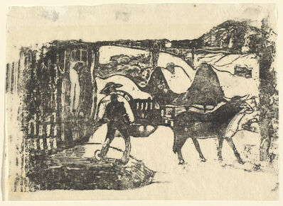 Paul Gauguin, 'The Ox Cart (Le char a boeufs)', in or after 1895