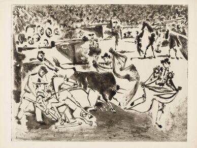 Pablo Picasso, 'Le Picador blessé', 1952