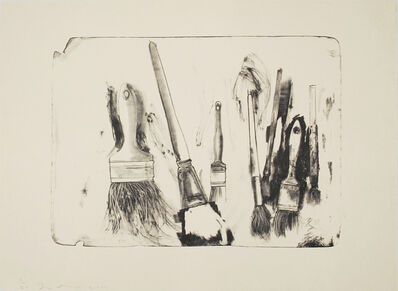 Jim Dine, 'Brushes Drawn on Stone #2', 2010