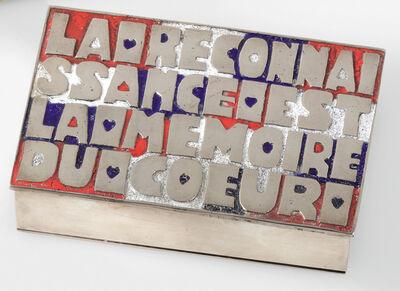 """Line Vautrin, '""""La Reconnaissance est la Mémoire du Cœur"""" Box', circa 1946"""