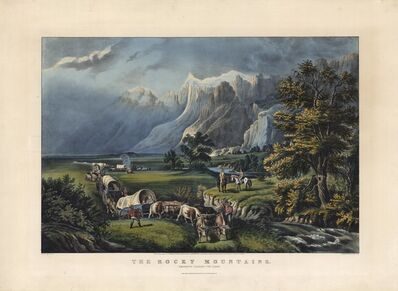 Currier & Ives, 'The Rocky Mountains. : Emigrants Crossing the Plains.', 1866