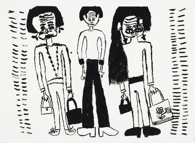 Yolanda Ramirez, 'Untitled (Four Figures, Two Holding Bags)', 2018