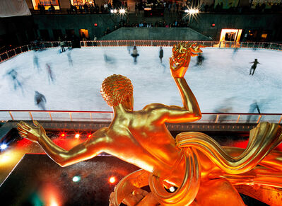 Andrew Prokos, 'Prometheus and Ice Skaters at Night, Rockefeller Center', 2007