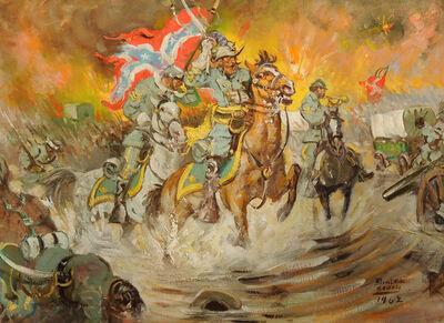 Benton Clark, 'Charge, Confederate General Jeb Stuart Leading Charge in Civil War'