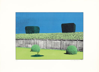 Ivor Abrahams, 'The Garden Suite V (Fence & hedge with two bushes)', 1970