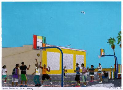 Fabio Coruzzi, 'Basket Players at Venice Beach', 2017