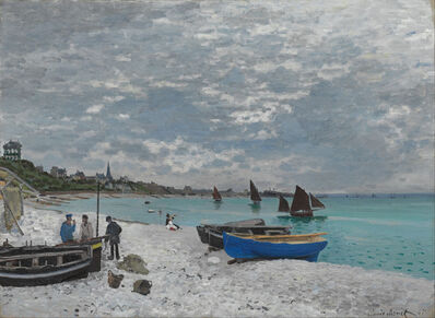 Claude Monet, 'The Beach at Sainte-Adresse', 1867