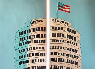 Marz Junior, 'Capital Records Building Diptych- Teal ', 2015