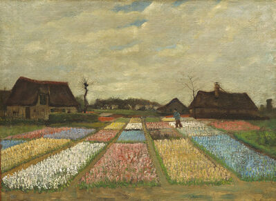 Vincent van Gogh, 'Flower Beds in Holland', ca. 1883