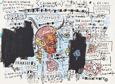 Jean-Michel Basquiat, 'Leeches', 1983-2017