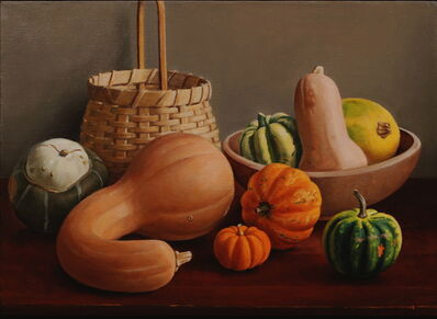 Ron Schwerin, 'Squash in a Basket'