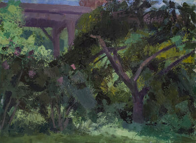 Tony Serio, 'Hibiscus, Split Tree and Highway', 2020