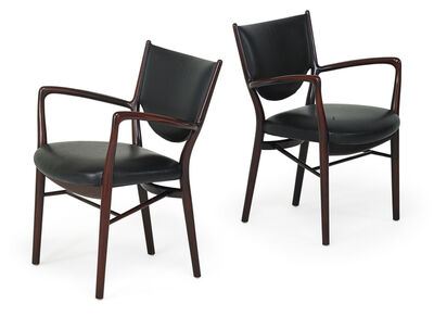 Finn Juhl, 'Pair of NV-46 chairs, Denmark', 1946-59