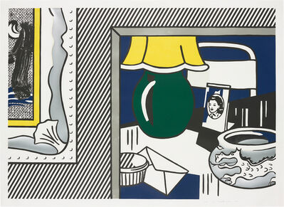 Roy Lichtenstein, 'Two paintings: Green Lamp, from Paintings Series', 1984