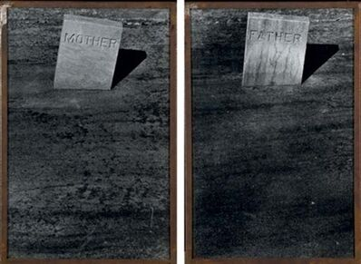 Sophie Calle, 'Les Tombes: Mother and Father', 1990