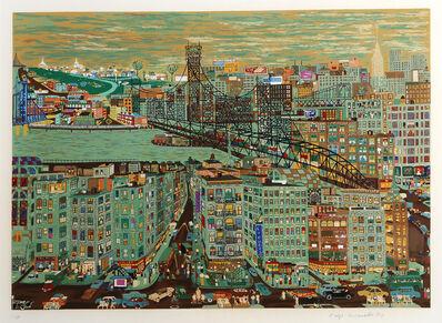 Ralph Fasanella, 'Bridges', 1974