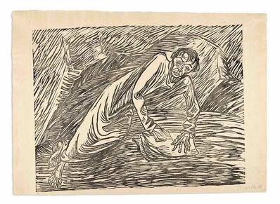 Ernst Barlach, 'SCHREIBENDER PROPHET (JOHANNES AUF PATMOS) (SCHULT 159)', 1919