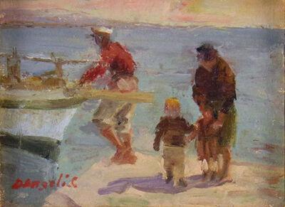 Cosmo D'Angeli, 'Preparing the Boat', ca. 1940