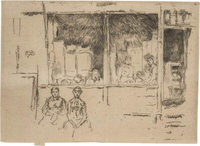 James Abbott McNeill Whistler, 'MELON SHOP, HOUNDSDITCH (K. 293; G. 355)', 1887