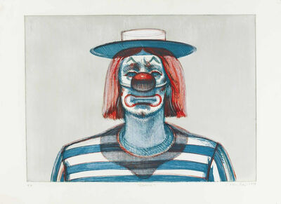 Wayne Thiebaud, 'Clown from Recent Etchings I', 1979