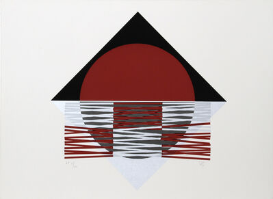 Jesús Rafael Soto, 'Ovalo Rojo', ca. 1980