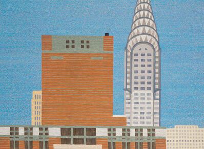 Yvonne Jacquette, 'Watertower Enclosures and Chrysler Building II', 2017