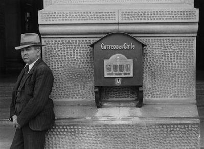 Ellen Auerbach, 'Male and Mailbox, Chile', 1948