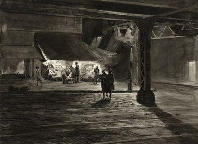 Martin Lewis, 'Yorkville Night (Study)', 1947