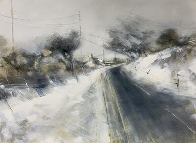 Hannah woodman, 'Pink Cottage on the Moors, Cornish Winter'