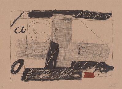 Antoni Tàpies, 'Llambrec material II', 1970-1980