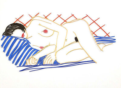 Tom Wesselmann, 'Monica Asleep on Blanket'