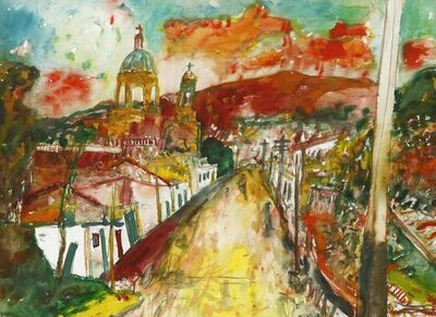 John Bellany R.A., 'A VIEW OF AN ITALIAN TOWN'