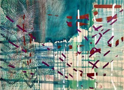 Alyse Rosner, 'Shift (pthalo)', 2018